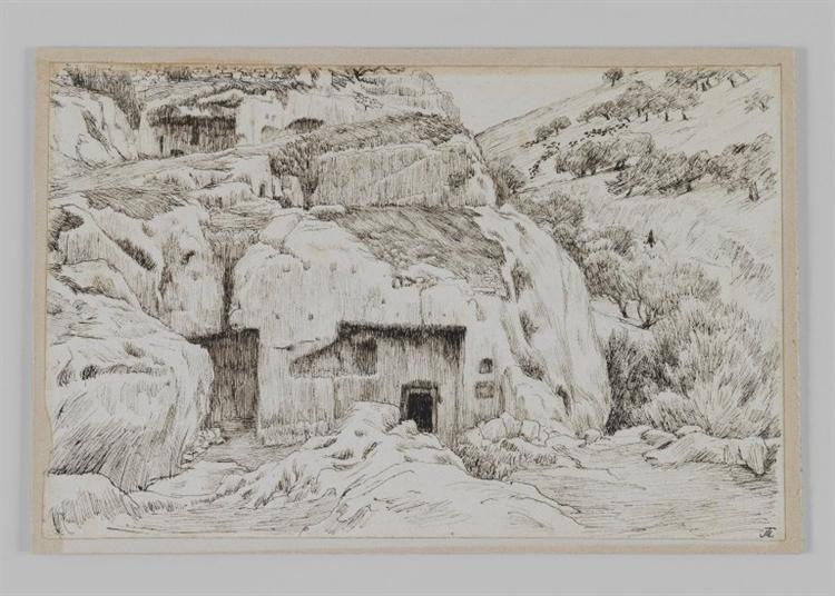 Tombs In the Valley of Hinnom, 1886 - 1889 - James Tissot