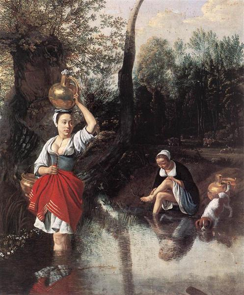 The Wager, 1665 - Jan Siberechts