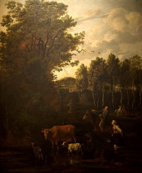 The wager, 1679 - Jan Siberechts