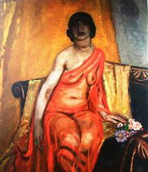 Recumbent female nude - Jan Sluyters