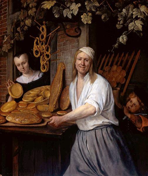 Baker Oostwaert and his wife, 1658 - Jan Steen