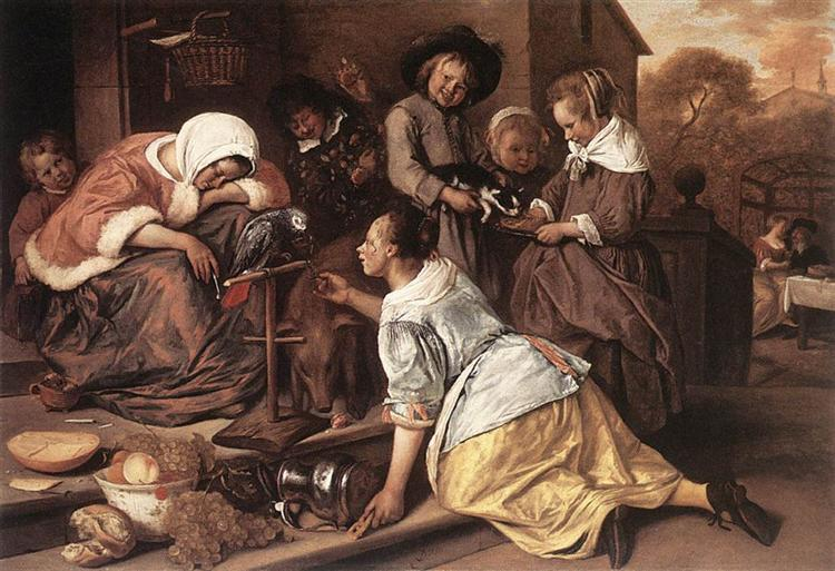 Effects of Intemperance, 1663 - 1665 - Jan Steen