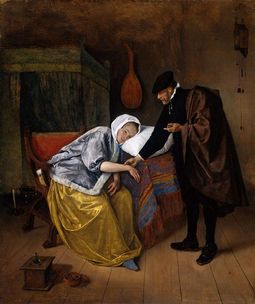Sick woman, c.1665 - Jan Steen