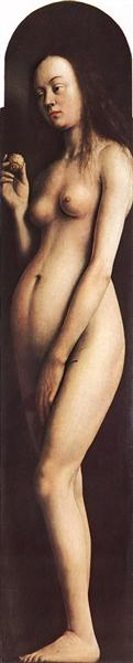 Eve, from the right wing of the Ghent Altarpiece, 1425 - 1429 - Jan van Eyck