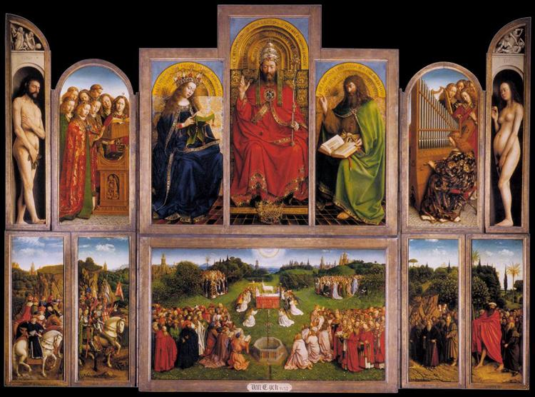 The Ghent Altarpiece (interior), 1432 - Jan van Eyck