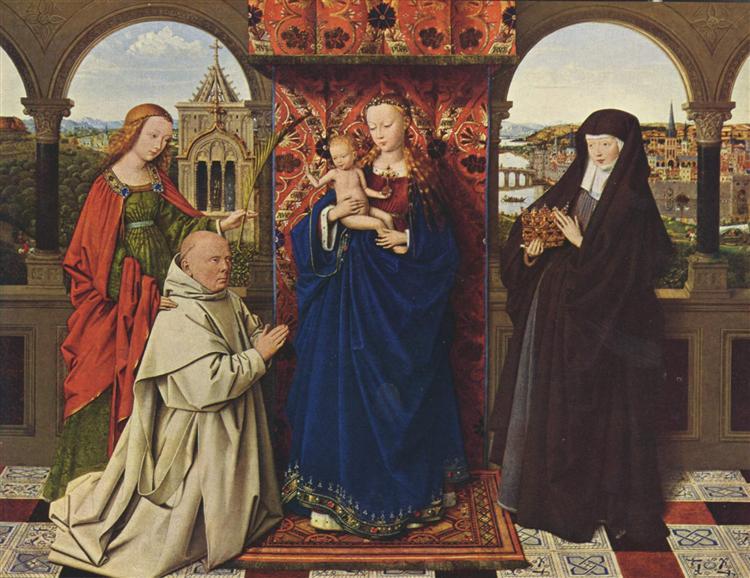 Мадонна с младенцем, святые и донатор, 1441 - Ян ван Эйк