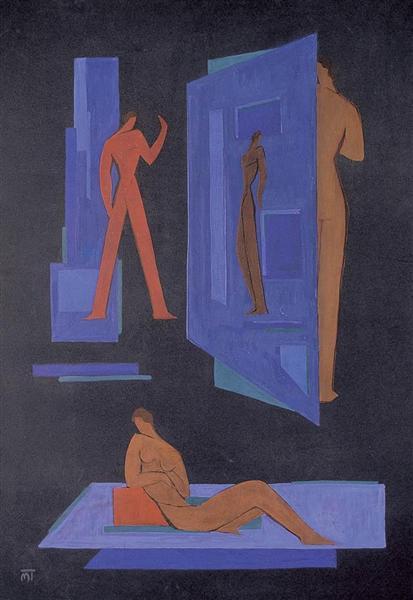 Composition (Attitudes), 1930 - Janos Mattis-Teutsch