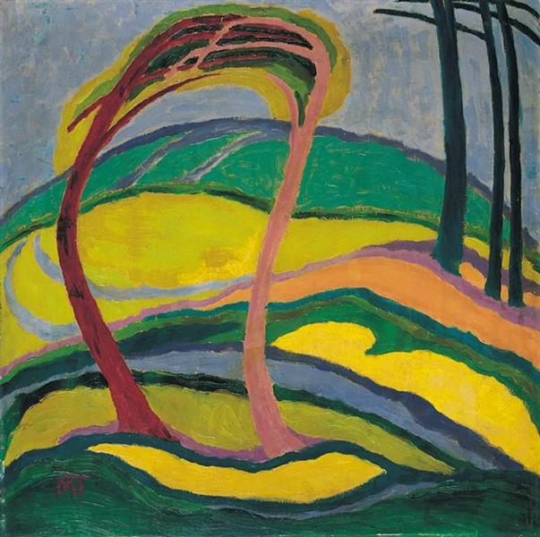 Landscape, 1917 - Janos Mattis-Teutsch