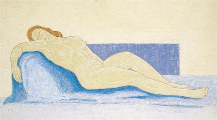 Woman on a Blue Divan, 1947 - Janos Mattis-Teutsch