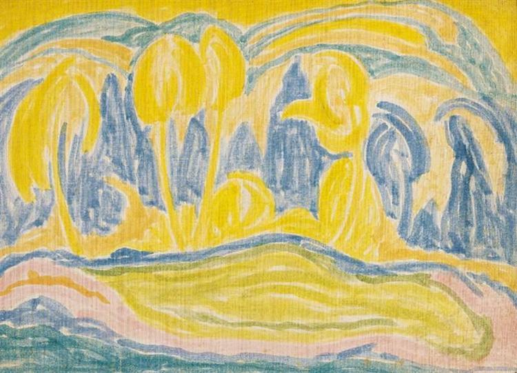 Yellow-blue Landscape, 1916 - Janos Mattis-Teutsch