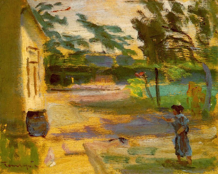 Cortyard in Sunshine, 1928