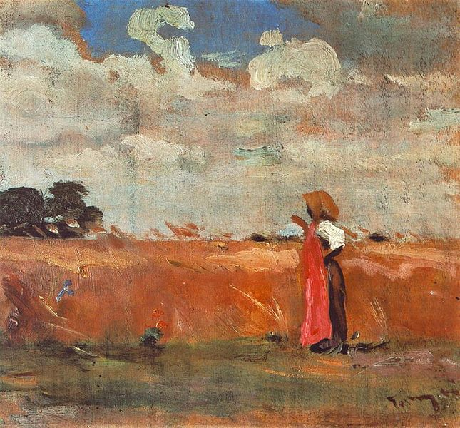Wheatland with Woman of Shawl, 1912