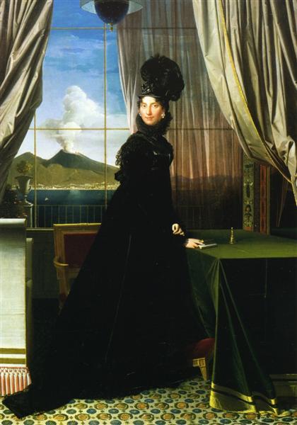 Caroline Murat, Queen of Naples - Ingres Jean Auguste Dominique