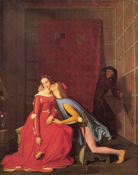 Франческа да Римини и Паоло Малатеста, 1819 - Жан Огюст Доминик Энгр