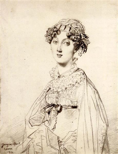 Lady William Henry Cavendish Bentinck, born Lady Mary Acheson I - Jean Auguste Dominique Ingres