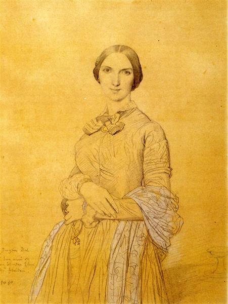 Madame Hippolyte Flandrin, born Aimée Caroline Ancelot - Jean Auguste Dominique Ingres