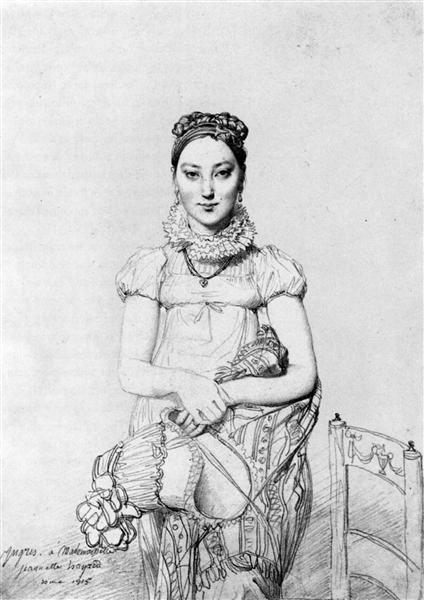 Mademoiselle Jeanne Hayard - Jean Auguste Dominique Ingres