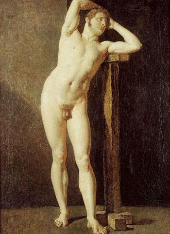 Male nude, 1801 - Jean Auguste Dominique Ingres