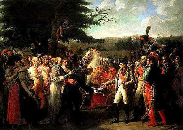 Napoleon receives the keys of Vienna, 1812