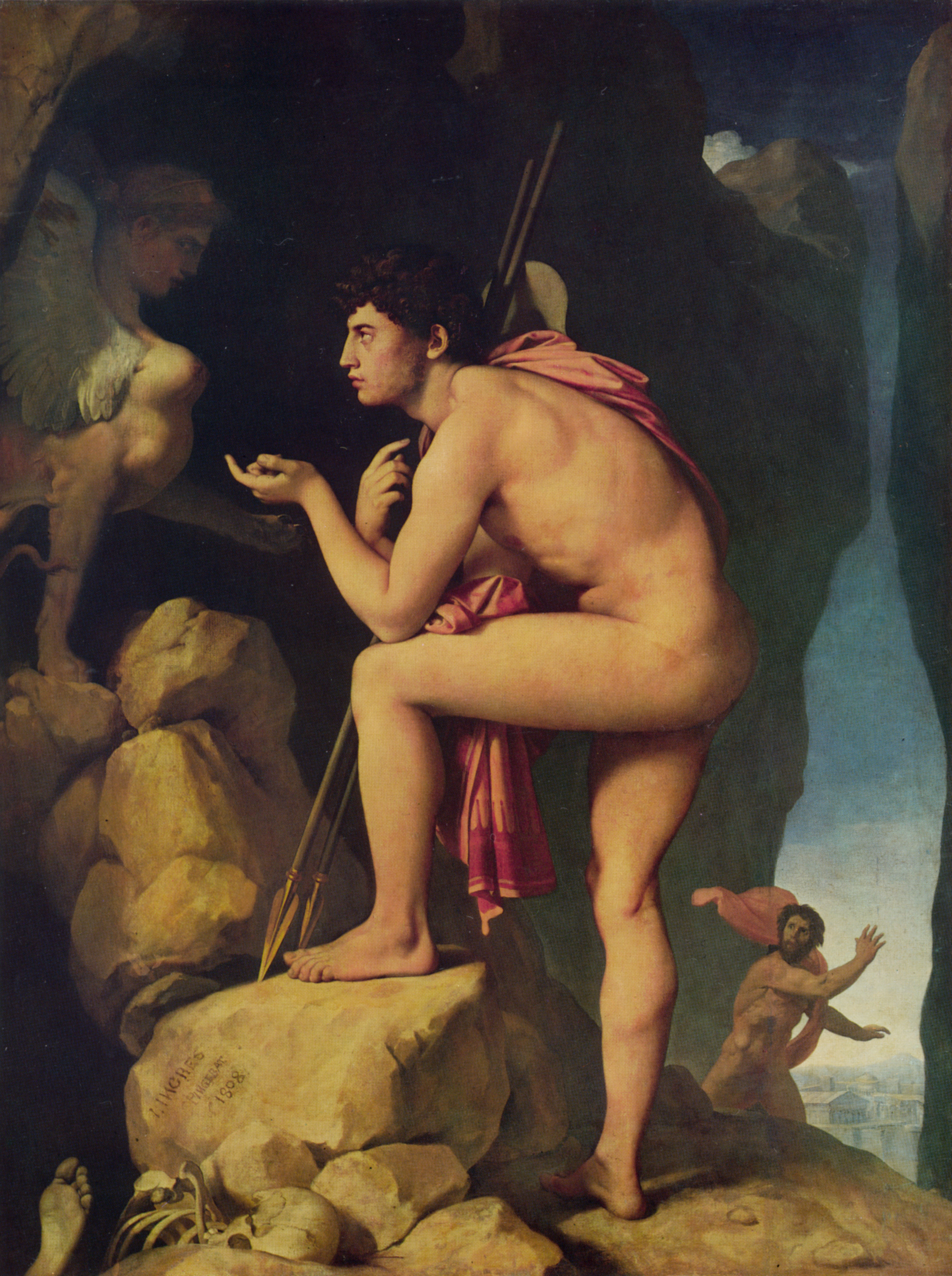 Oedipus and the Sphinx, 1808