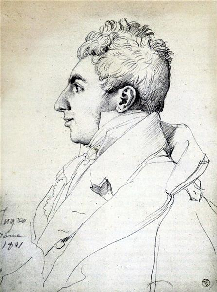 Portrait of a Man - Jean Auguste Dominique Ingres