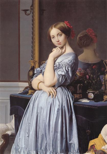La Vicomtesse d'Haussonville, 1845 - Jean-Auguste-Dominique Ingres