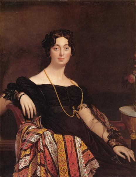 Portrait of Madame Leblanc, 1823 - Jean Auguste Dominique Ingres