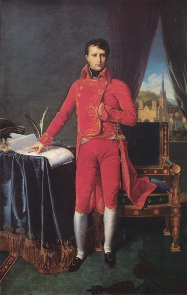 Portrait of Napoléon Bonaparte, The First Council - Jean Auguste Dominique Ingres