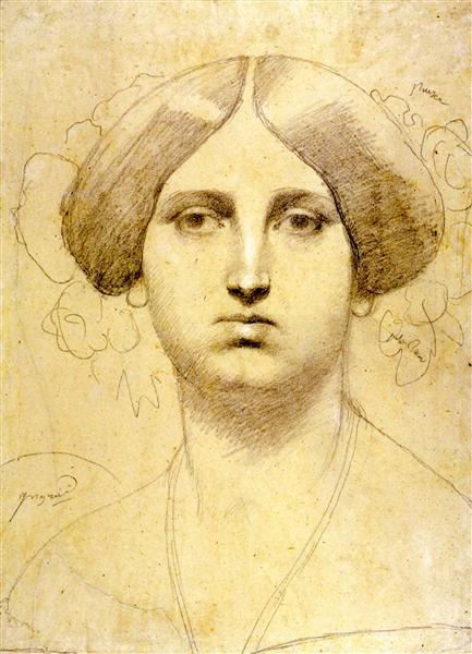 Этюд для баронессы Джеймс Ротшильд, урожденной Бетти фон Ротшильд, 1851 - Жан Огюст Доминик Энгр