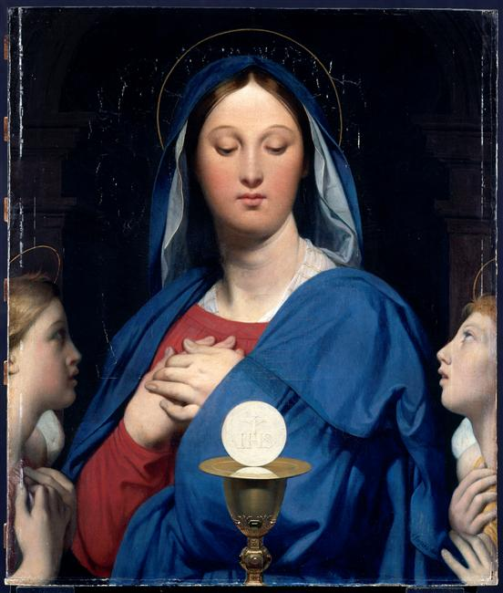 The Virgin of the Host Ingres - Restored Traditions
