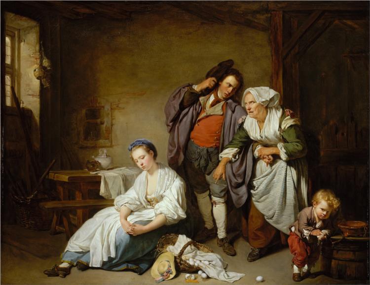 Broken Eggs, 1756 - Jean-Baptiste Greuze