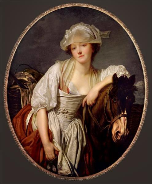 The Milkmaid, 1780 - Жан Батіст Грьоз