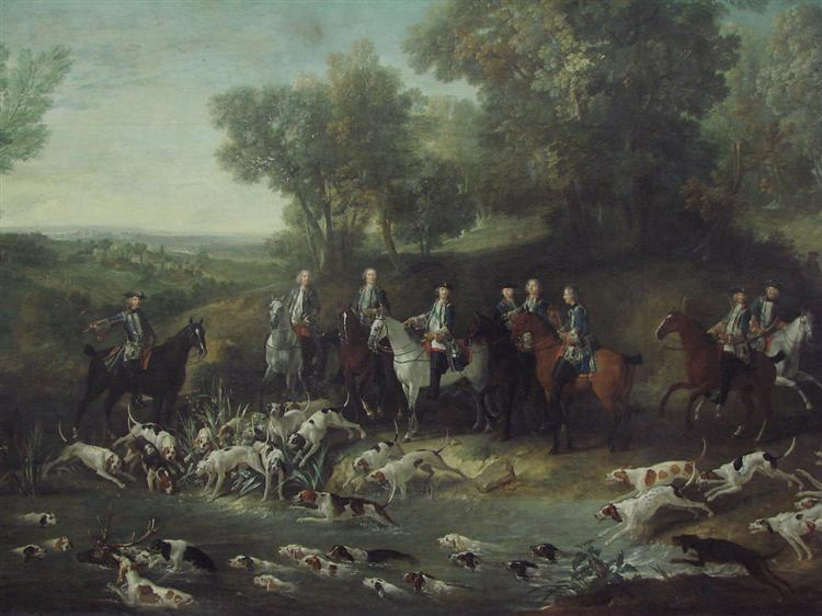 Louis XV Hunting Deer in the Saint-Germain Forest, 1730 - Jean-Baptiste Oudry