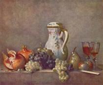 Still lifewith porcelainteapot - Jean-Baptiste-Simeon Chardin