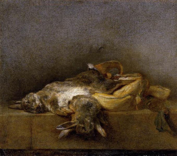 Still Life with Two Rabbits, c.1750 - Jean-Baptiste-Simeon Chardin