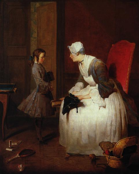 The Governess, 1739 - Jean-Baptiste-Simeon Chardin
