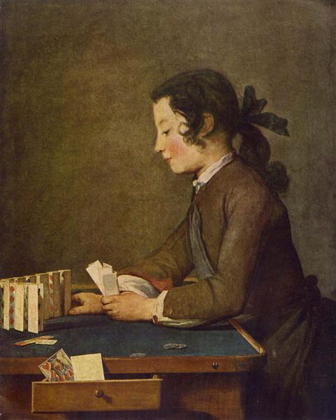 The House of Cards, c.1735 - Jean-Baptiste-Simeon Chardin