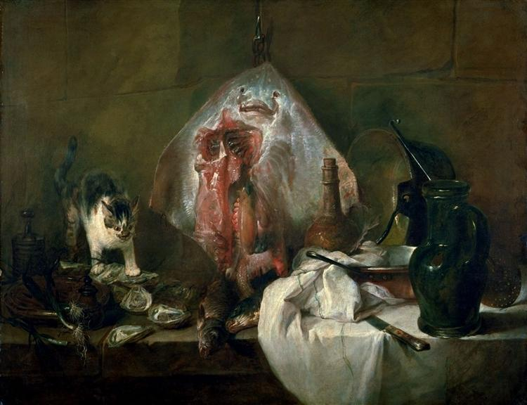 The Ray or, The Kitchen Interior, 1728 - Jean-Baptiste-Simeon Chardin