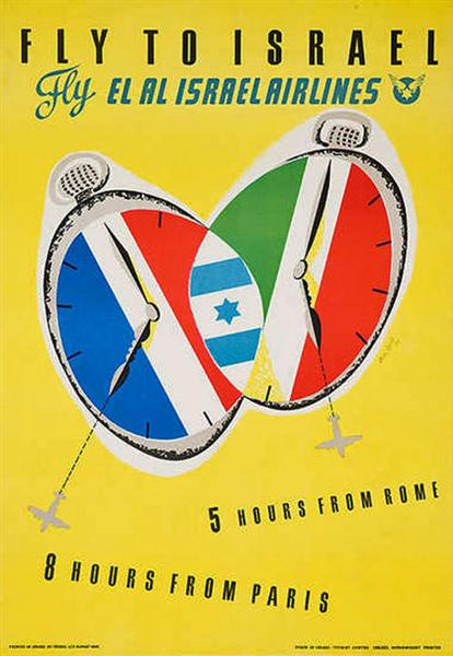 Fly to Israel, 1975 - Jean David