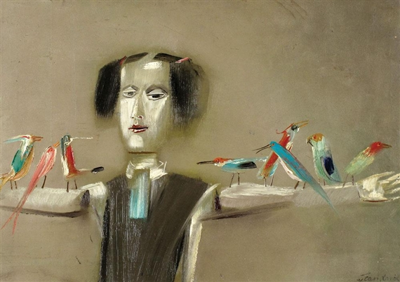 Scarecrow and Birds - Jean David