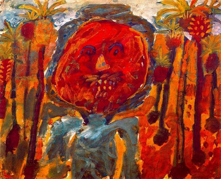 Arab palm trees, 1947 - 1948 - Jean Dubuffet