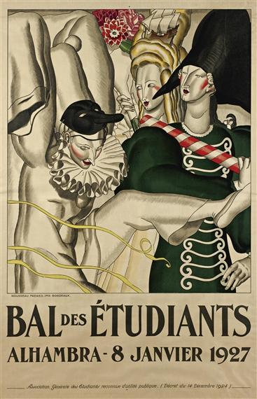 Bal des Étudiants Poster, 1927 - Jean Dupas