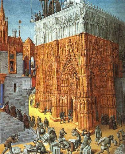 Building of the Temple of Jerusalem - Jean Fouquet