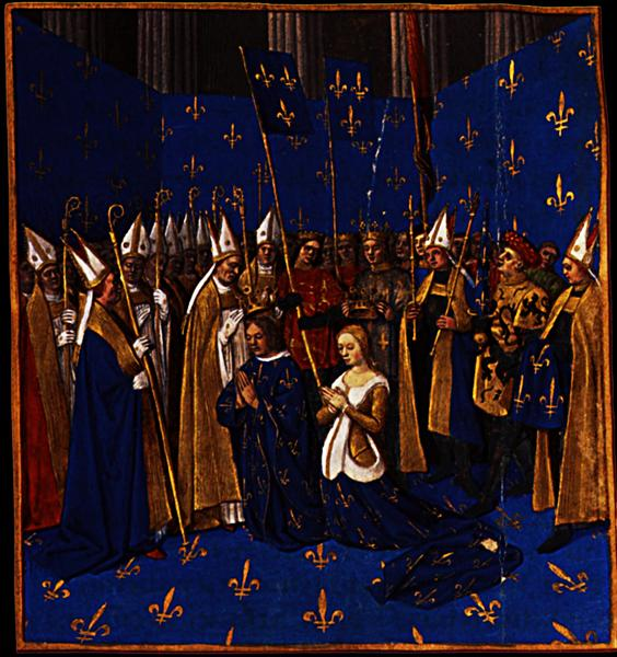 Coronation of Louis VIII and Blanche of Castile at Reims, 1455 ...