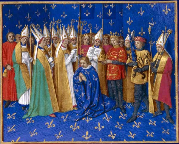 Coronation of Philippe Auguste, 1455 - 1460 - Jean Fouquet