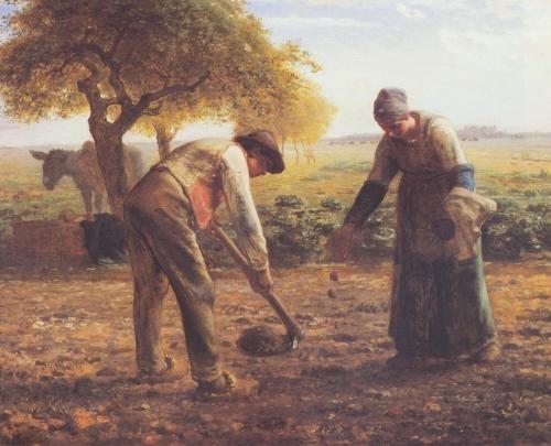 The potato growers - Jean-Francois Millet