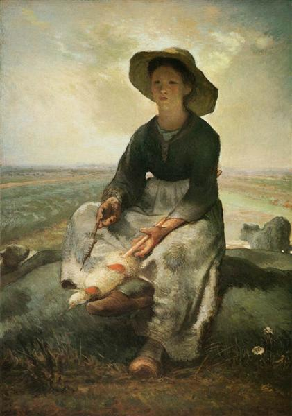 The Young Shepherdess, 1870 - 1873 - Jean-Francois Millet