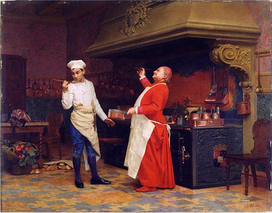 The Marvelous Sauce, c.1890 - Jehan Georges Vibert