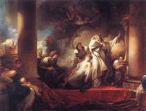 Coresus at Callirhoe - Jean-Honore Fragonard