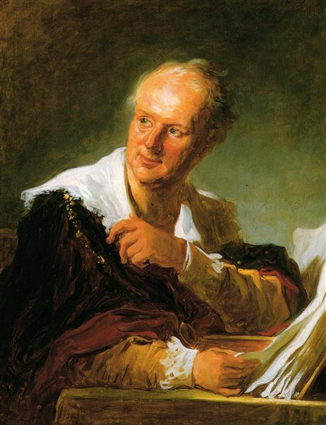 Portrait of Denis Diderot, c.1769 - Jean-Honore Fragonard